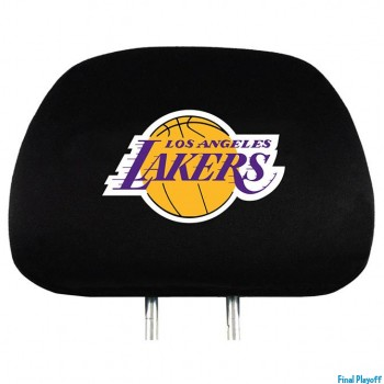 Los Angeles Lakers headrest covers 2pc | Final Playoff