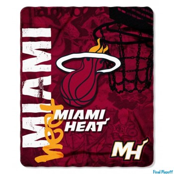 Miami Heat fleece throw blanket | Final Playoff