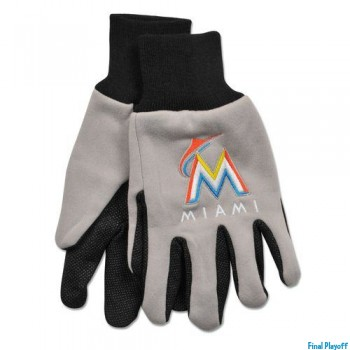 Miami Marlins two tone utility gloves | Final Playoff