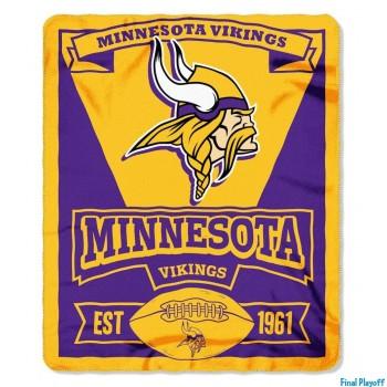 Minnesota Vikings fleece throw blanket | Final Playoff