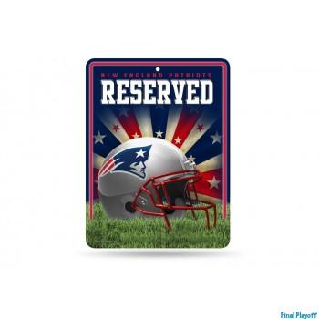 New England Patriots metal parking sign | Final Playoff