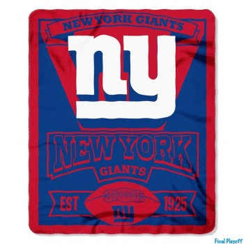New York Giants fleece throw blanket | Final Playoff