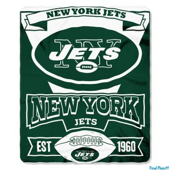 New York Jets fleece throw blanket | Final Playoff