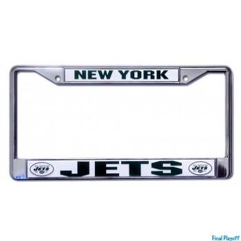 New York Jets license plate frame holder   Final Playoff