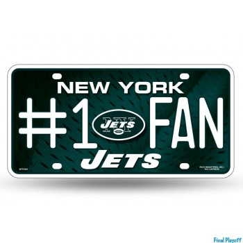 New York Jets metal license plate | Final Playoff
