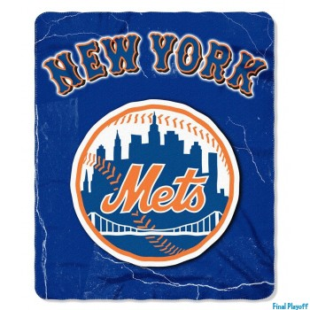 New York Mets fleece throw blanket | Final Playoff