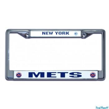 New York Mets license plate frame holder | Final Playoff