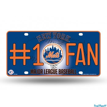 New York Mets metal license plate   Final Playoff