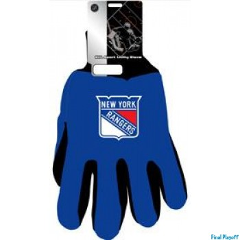 New York Rangers two tone utility gloves | Final Playoff