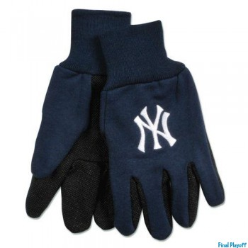 New York Yankees two tone utility gloves   Final Playoff