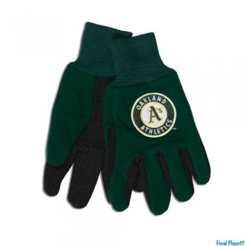 Oakland Athletics two tone utility gloves | Final Playoff
