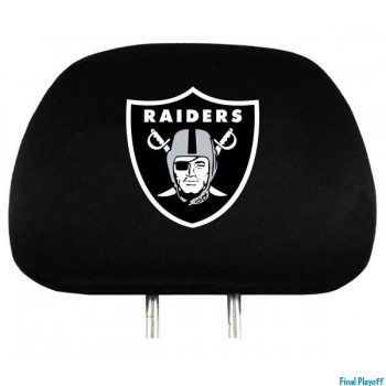 Oakland Raiders headrest covers 2pc | Final Playoff