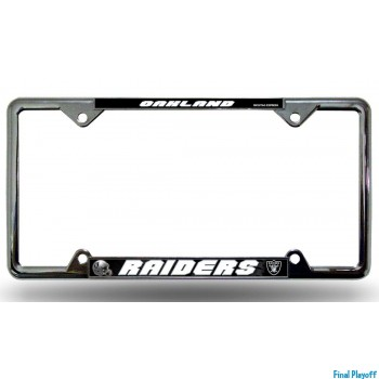 Oakland Raiders license plate frame holder | Final Playoff