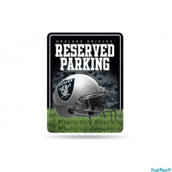 Oakland Raiders metal parking sign | Final Playoff