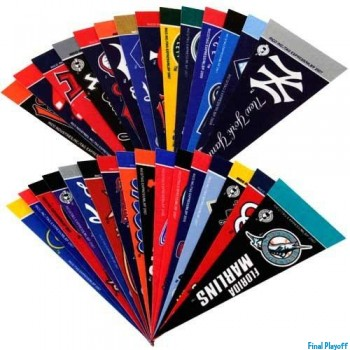 Officially Licensed MLB Mini Pennant Set 30pc | Final Playoff