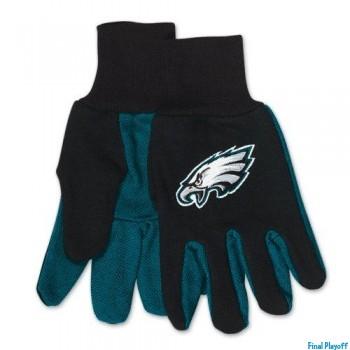 Philadelphia Eagles two tone utility gloves | Final Playoff