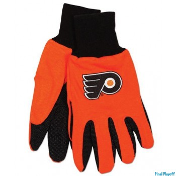 Philadelphia Flyers two tone utility gloves | Final Playoff