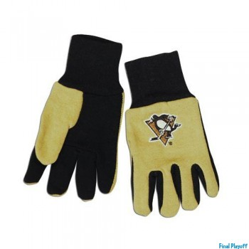 Pittsburgh Penguins two tone utility gloves | Final Playoff