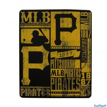 Pittsburgh Pirates fleece throw blanket | Final Playoff