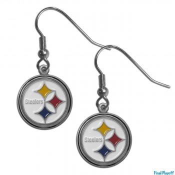 Pittsburgh Steelers dangle earrings | Final Playoff