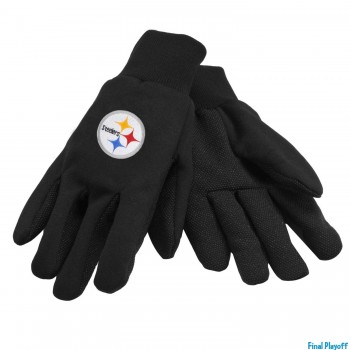 Pittsburgh Steelers utility gloves | Final Playoff