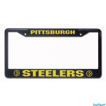 Pittsburgh Steelers license plate frame black | Final Playoff