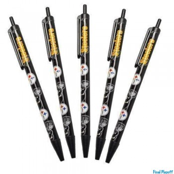 Pittsburgh Steelers retractable pens 5pk | Final Playoff