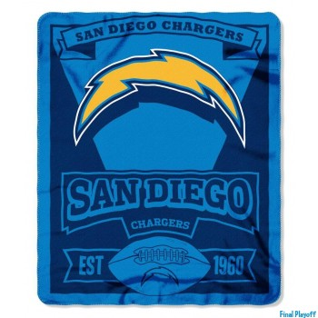 San Diego Chargers fleece throw blanket | Final Playoff