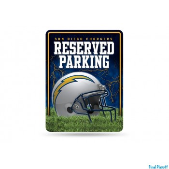 San Diego Chargers metal parking sign | Final Playoff