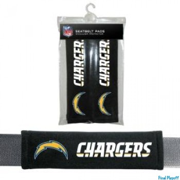 San Diego Chargers seat belt pads | Final Playoff