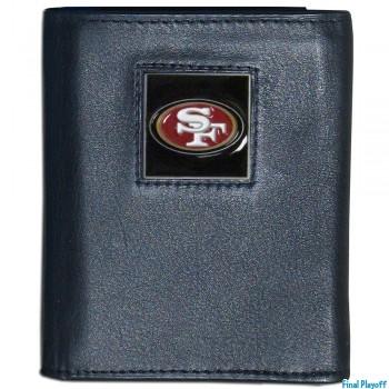 San Francisco 49ers black leather tri-fold wallet | Final Playoff
