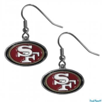 San Francisco 49ers dangle earrings | Final Playoff