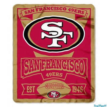 San Francisco 49ers fleece throw blanket | Final Playoff