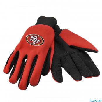 San Francisco 49ers utility gloves | Final Playoff