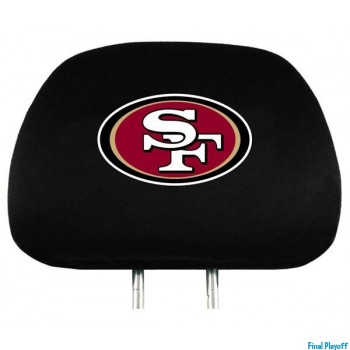 San Francisco 49ers headrest covers 2pc | Final Playoff