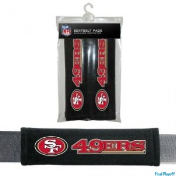 San Francisco 49ers seat belt pads | Final Playoff