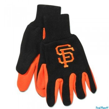 San Francisco Giants two tone utility gloves | Final Playoff
