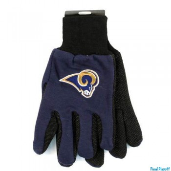 St. Louis Rams two tone utility gloves | Final Playoff