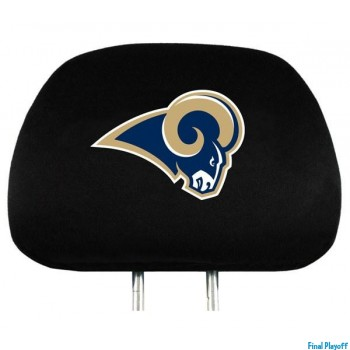 St. Louis Rams headrest covers 2pc   Final Playoff