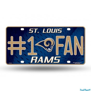 St. Louis Rams metal license plate | Final Playoff