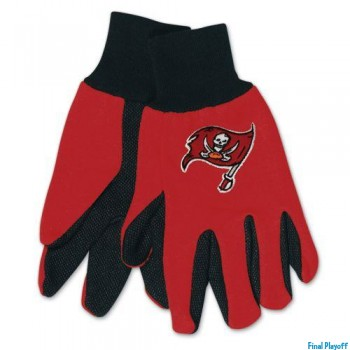 Tampa Bay Buccaneers two tone utility gloves | Final Playoff