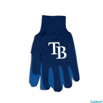 Tampa Bay Rays two tone utility gloves | Final Playoff