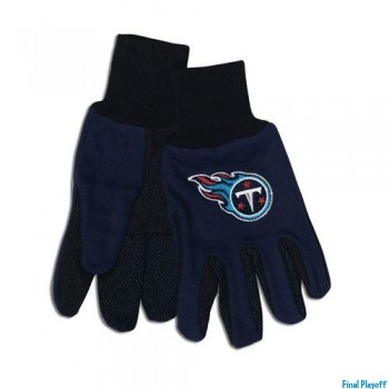 Tennessee Titans two tone utility gloves | Final Playoff