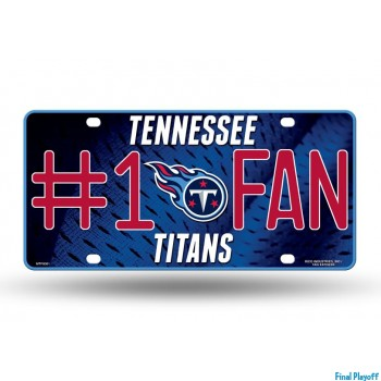 Tennessee Titans metal license plate   Final Playoff