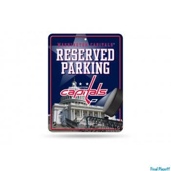Washington Capitals metal parking sign | Final Playoff