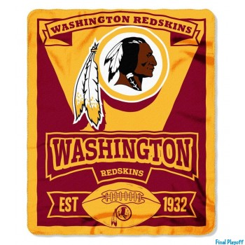 Washington Redskins fleece throw blanket | Final Playoff