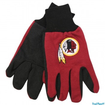 Washington Redskins two tone utility gloves | Final Playoff