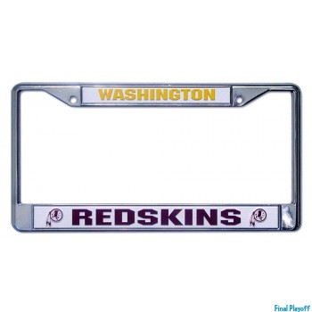 Washington Redskins license plate frame holder   Final Playoff