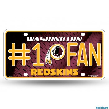 Washington Redskins metal license plate   Final Playoff