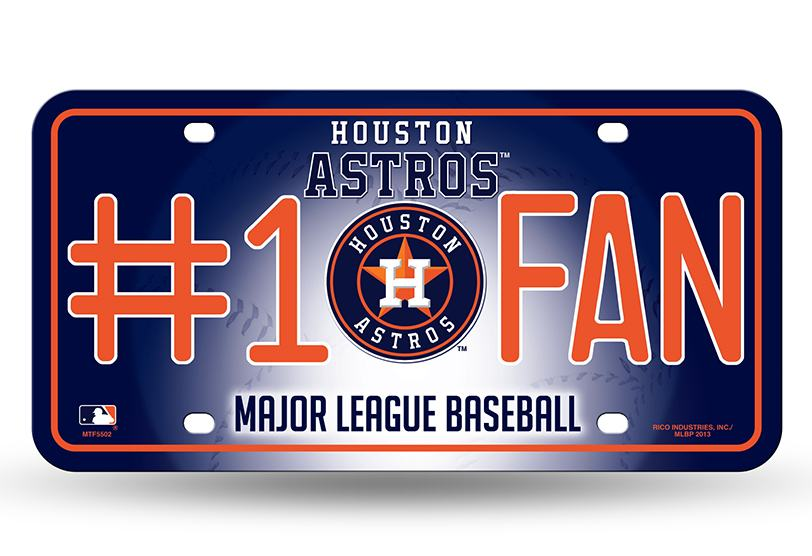 Houston Astros Metal License Plate Final Playoff